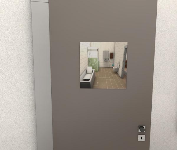 Badezimmer Toilettentür