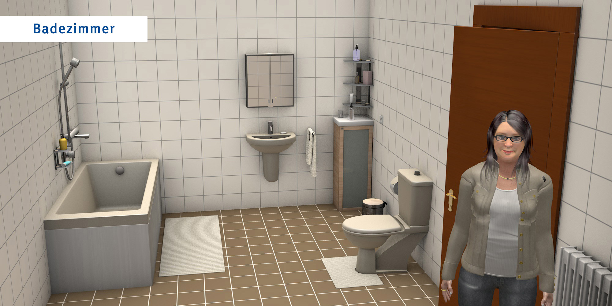 Badezimmer - übliche Version