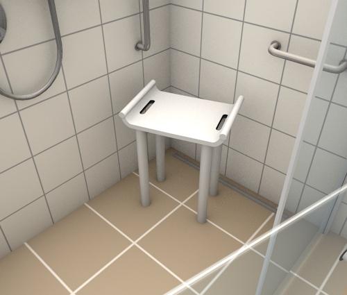 Sitzgelegenheit in der Dusche
