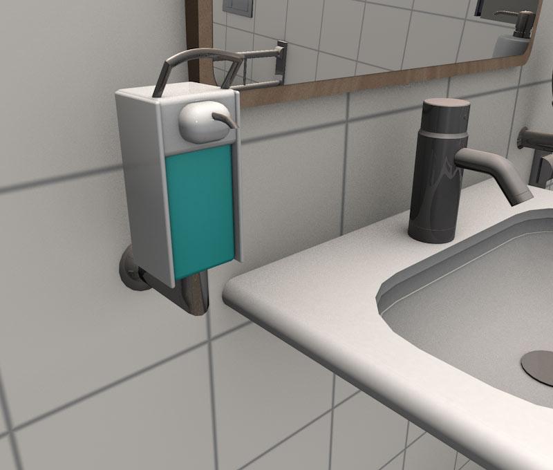 Spender für Waschlotion/Desinfektionsmittel