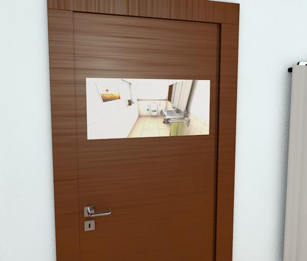 Gäste WC Tür