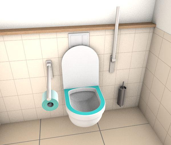 Toilettendeckel und Toilettenbrille
