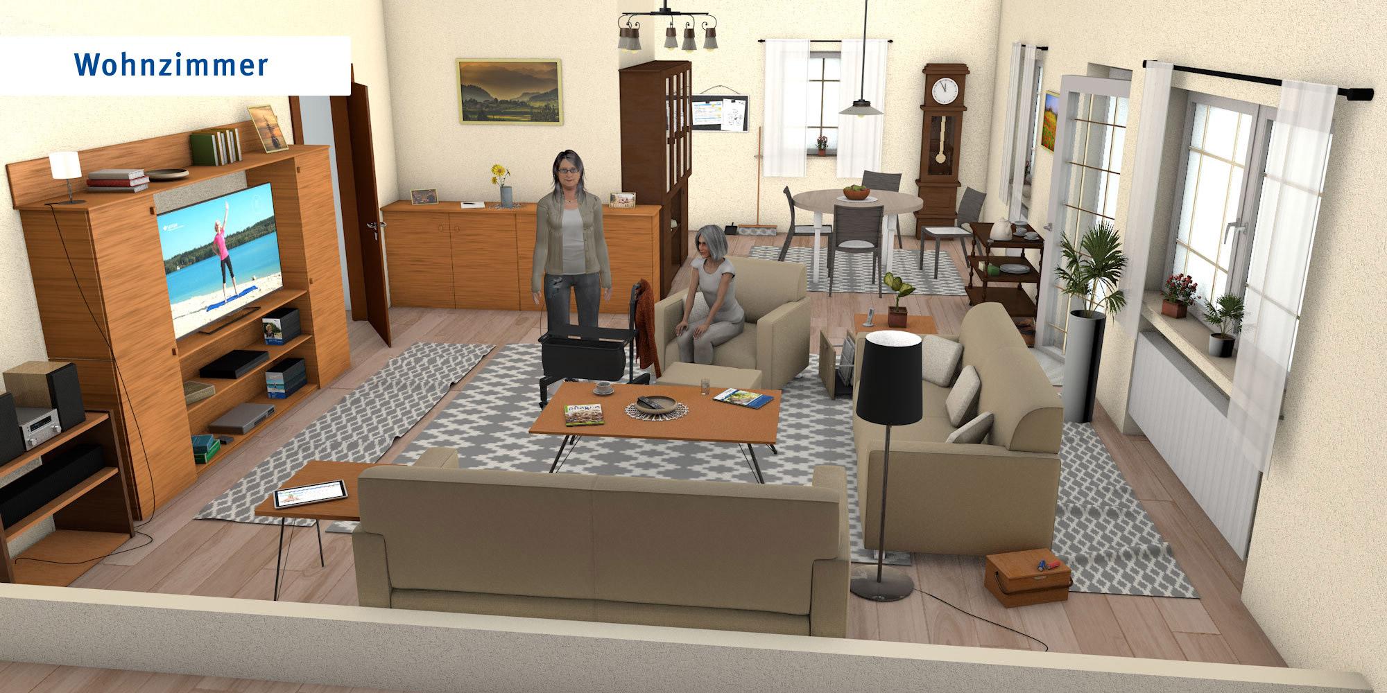 Wohnzimmer - übliche Version